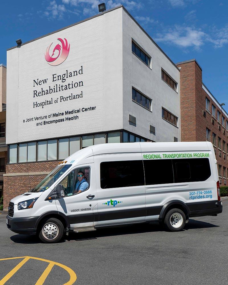 RTP Van at New England Rehabilitation Building