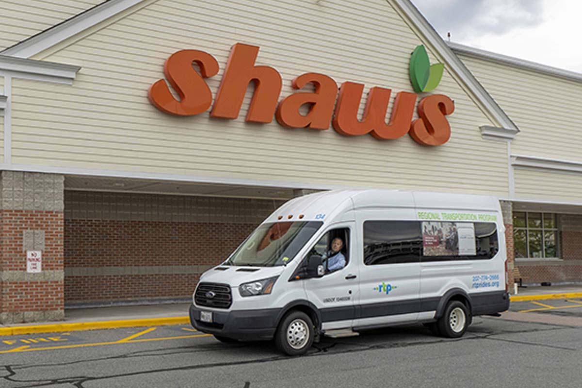 Driver, Harold in RTP van 128 at Shaws supermarket