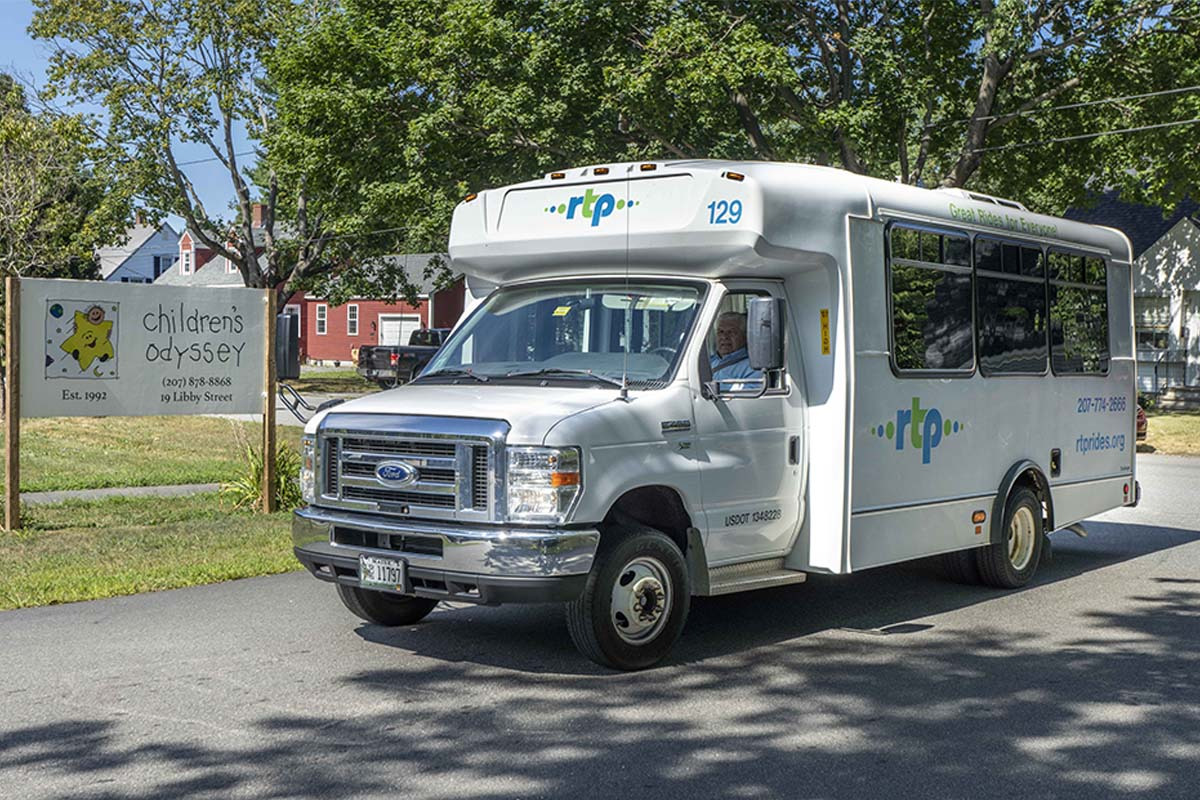 RTP van 129 at Childrens Odyssey sign