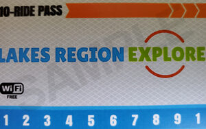 Example ten ride Pass Ticket For The Lake Region Explorer