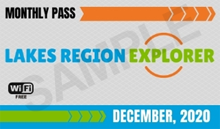 Example Monthly Pass Ticket For The Lake Region Explorer